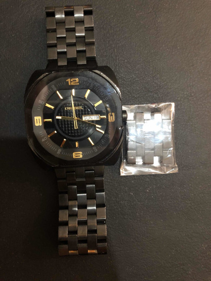 Relógio Diesel Dz-1211 - Preto Com Detalhes Dourados