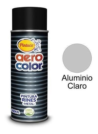 Aerosol Laca Aluminio Rines Claro 300 Ml. Aerocolor