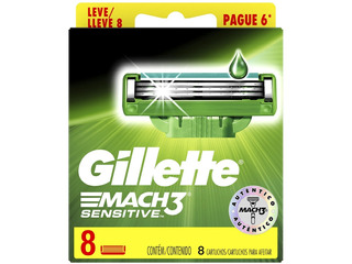 Repuesto Gillette Mach3 Sensitive X 8 Cartuchos