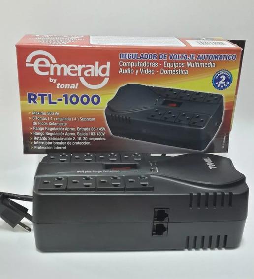 Regulador De Voltaje Emerald Tonal Rtl-1000 8 Tomas