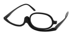 Óculos Para Maquiagem (armação) Gira 180 Graus Cor Preta