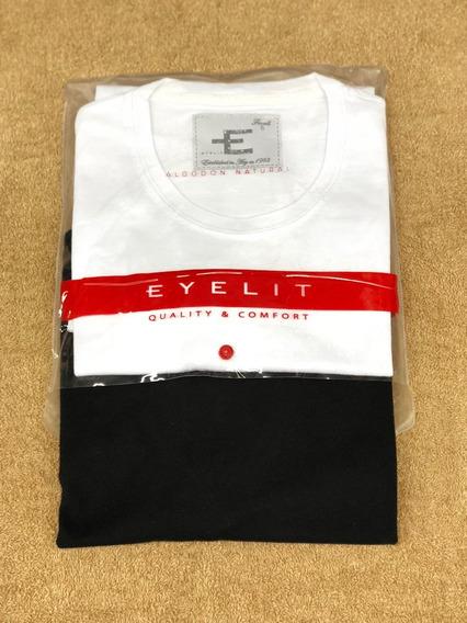 Pack X 2 Remeras Eyelit M/cortas Esc/ O Alg Art 4482 T1 Al 5