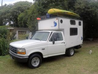 Camper, Motorhome, Casa Rodante Ford-f100 Xl Turbo Diesel.