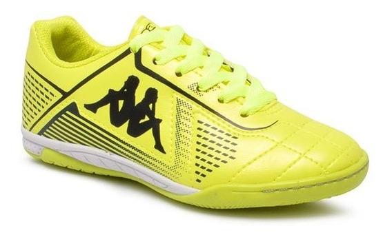 Tênis Futsal Infantil Kappa Klaus 351216w Amarelo/preto