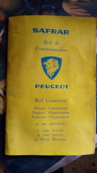 Libreta Antigua De Red De Servicios Peugeot