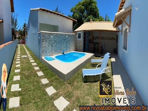 Imagem 1 de 7 de Casa Em Unamar Cabo Frio Casa Super Linda Em Unamar Cabo Frio Região Dos Lagos - Vcac 342 - 69011588
