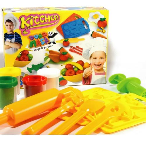 Imagen 1 de 9 de Masa Para Modelar Plastilina Infantil Duravit Juego Cocina