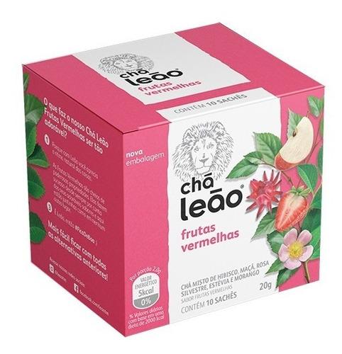 Chá Leão Premium - Frutas Vermelhas 10 Saches