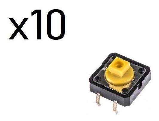 Chave Táctil Push Button 12x12x7.5 Mm Arduino X10