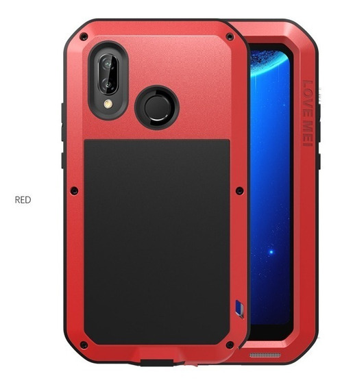 Funda Huawei P20 Lite Love Mei Powerful Uso Rudo Aluminio