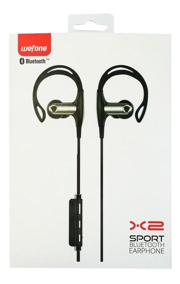 Audífonos Manos Libres Bluetooth Deportivos Wefone X2 Negro