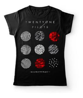 Camiseta Mujer Twenty One Pilots Blurryface Rock Activity