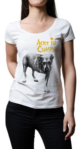 Imagen 1 de 1 de Remera Mujer Rock Alice In Chains | B-side Tees