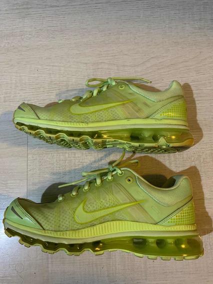Tênis Nike Airmax+, Amarelo Limão, Tam 38, Conecta C/ iPod