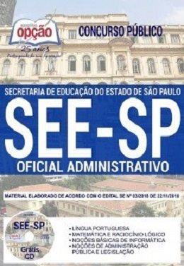 Apostila See-sp 2019 - Oficial Administrativo [cd Grátis