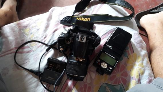 Câmera Profissional Nikon D5000 Com Flash Original Sb-800