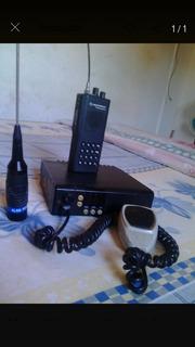 Radio Transmisores Frecuencia Uhf Motorola E Icom Con Antena