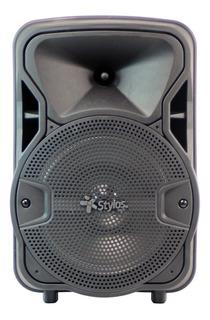 """Bocina Stylos Tech Baffle 8"""" portátil inalámbrico Negro 110V/220V"""