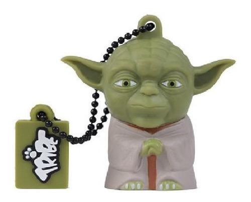 Imagen 1 de 2 de Memoria Usb Tribe 8gb Usb 2.0 Star Wars Yoda Verde