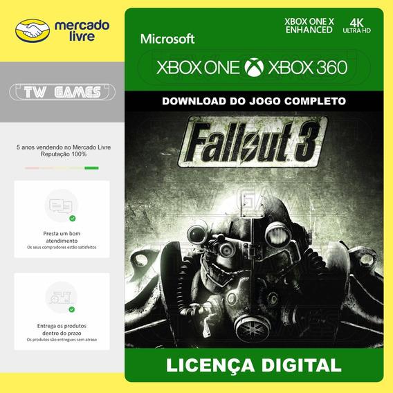 Fallout 3 Digital Retrocompativel Xbox One Xbox 360