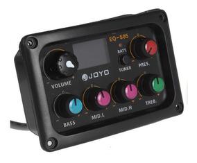 Equalizador E Captador Violão Joyo Eq-505 5 Bandas Afinador