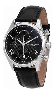 Relógio Frederique Constant Preto Automático Runabout Crono