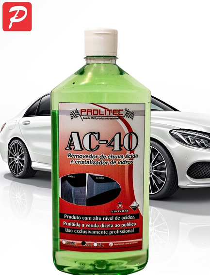 Ac40 Removedor De Chuva Ácida , Limpa Mancha De Vidros 1 Lt