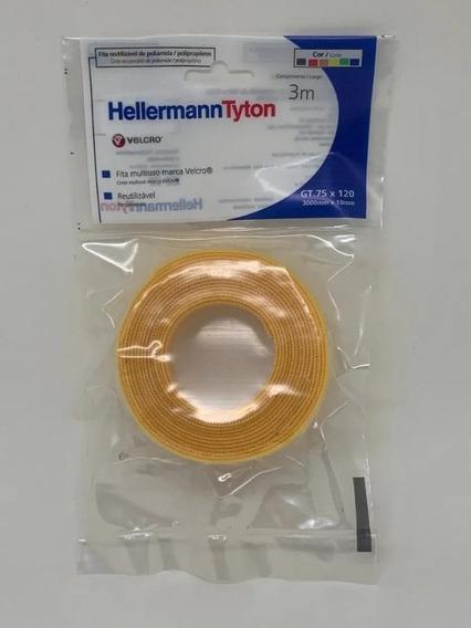 Abraçadeira Recuperável Em Velcro Gt.75x1204 Amarelo - 3mts