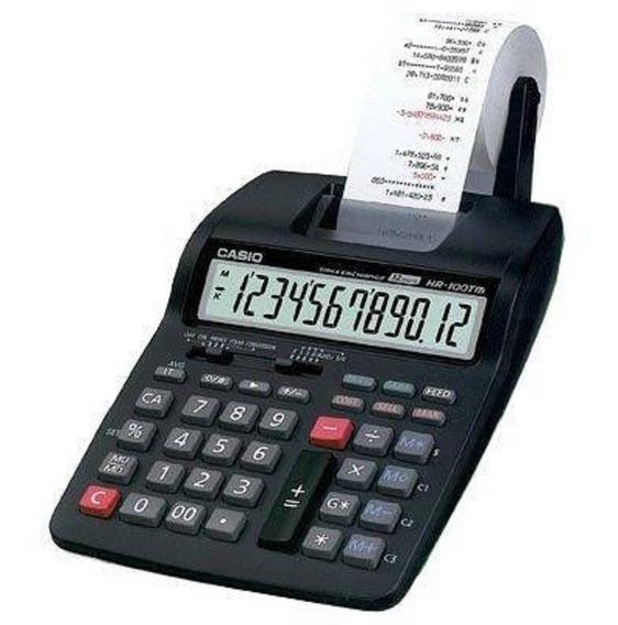 Calculadora Impresora 12 Digitos Casio Hr-100tm