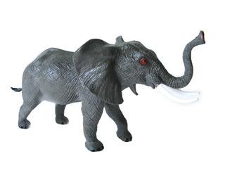 Juguete Animales Selva Goma Elefante Grande Jungla 26