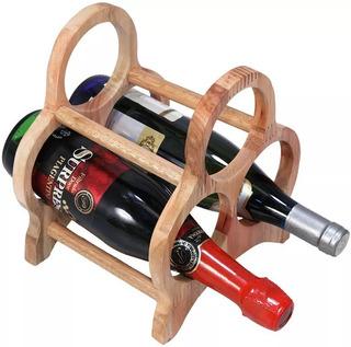 Base Suporte Em Madeira Tri Para Vinho