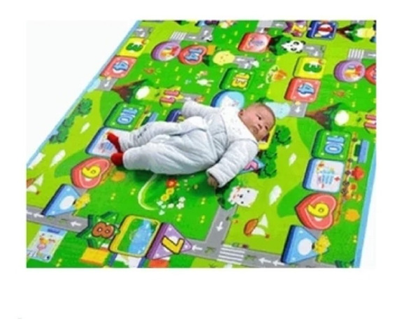 Tapete Atividades Bebe Infantil Tatame Conforto Dupla Bb047