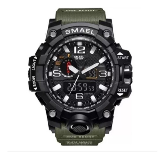 Relógio Masculino Militar Tático Original Shock Caixa Smael Analógico + Brinde