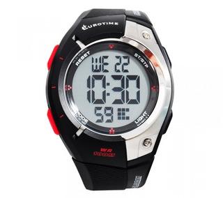 Reloj Eurotime Digital Caballero Con Alarma -recoleta Tmreyz