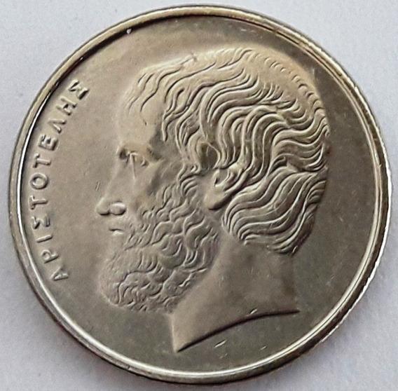 Grecia Moneda De 5 Dracmas Año 1986 Aristóteles Excelente