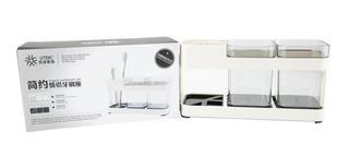 Porta Cepillo De Diente Organizador D Baño Cocina Doble Vaso