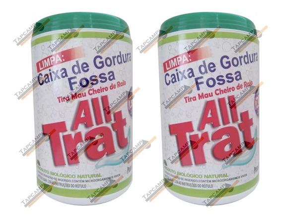 02 All Trat Limpa Fossa E Caixa De Gordura Enzimas 500 Grs