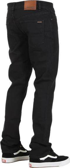 Pantalon Skate Volcom Slim Straight Jeans Strech Mercado Libre
