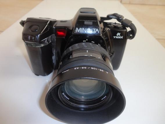 Maquina Fotográfica Analógica Minolta7700i Para Colecionador