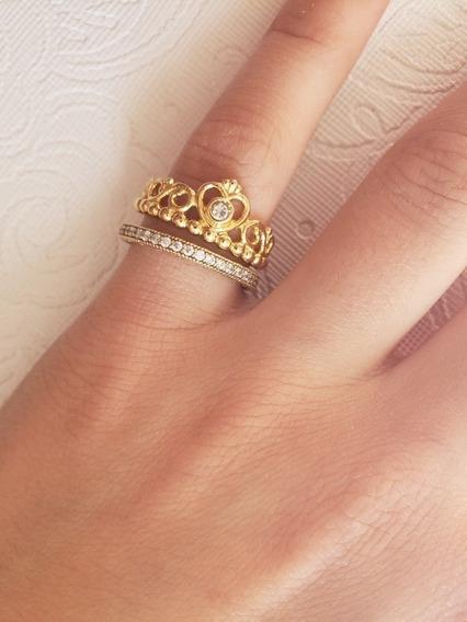 Anel Shine Tiara De Princesa Original