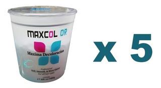 Pack X 5: Peluquería: Decolorante Para Cabello Maxcolor 500g