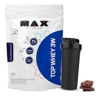 Top Whey 3w 1,8kg Isolada Concentrada Hid - Max Titaniu