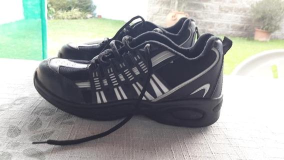 Zapatillas Dama Skp Negras Impecables 40