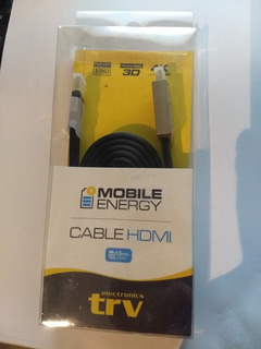 Cable Trv Hdmi 1.5 Mts. /full Hd / 1080p 3d 4k