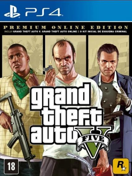 Gta 5 V Grand Theft Auto Ps4 Original- Jogo Permanente