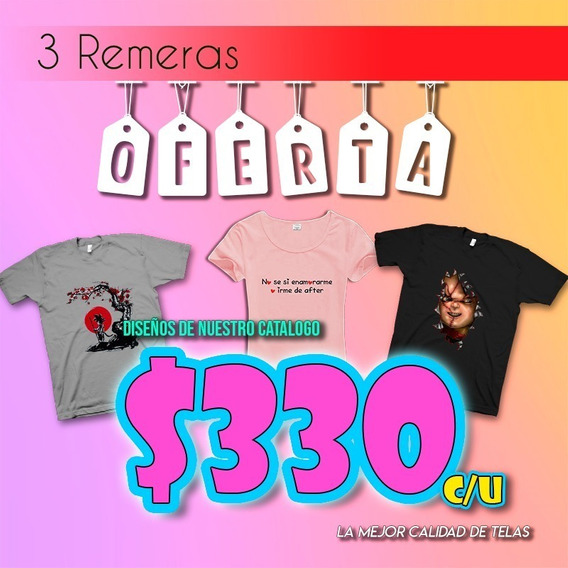 Pack 3 Remeras