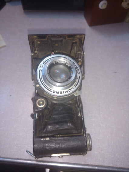 Máquina Fotográfica Antiga Para Decoração Lumiere Lumirex