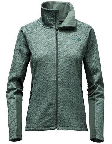 Sudadera The North Face Dama Arcata Full Zip Verde