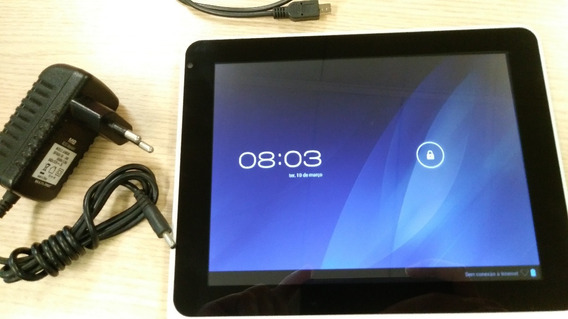 Tablet Multilaser M8 Dual Core Branco Nb061 Perfeito Estado