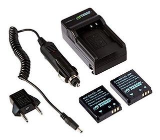 Wasabi Power Battery 2pack Y Cargador Para Ricoh Db65 Y Rico